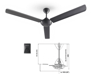 Panasonic Regulator Fan F-M15A0 GY Specs