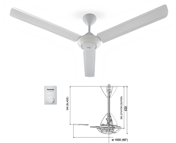 Panasonic Regulator Fan F-M15A0 Specs